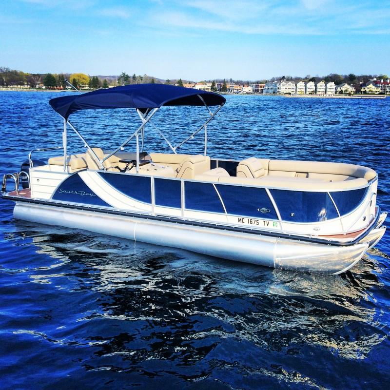 Tri Blue Tritoon | Boyne Watersports